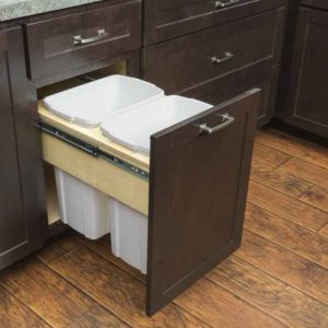 Double Waste Basket Cabinet - 2 Containers